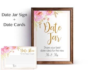 Date Jar Sign, Bridal Shower Date Jar Sign, Wedding Date Jar Print, Wedding Printable, Shower Date Jar Sign, Bridal Sign INSTANT DOWNLOAD