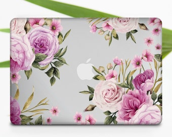Flowers Macbook Pro Case New Pro Macbook Case Floral Macbook Case Macbook Air 13 Case Macbook Air 13 Hard Case Rose Macbook Air Case m032