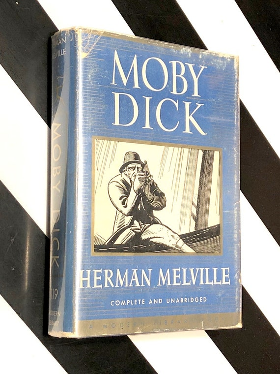 Moby Dick by Herman Melville (1950) Modern Library hardcover book