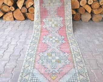 turkish rug runner ,3x9'5 feet,Antique rug, Handmade Runner Rug , Bohemian Runner Rug , oushak Runner ,carpet rug,Runner,Decorative Runner