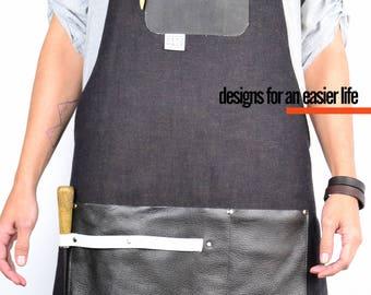 DENIM Leather Apron