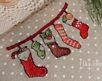 cross stitch pattern christmas christmas cross stitch socks christmas stitch Merry Christmas cross stitch pattern counted cross stitch Easy