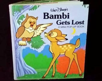"Walt Disney's ""Bambi Gets Lost"" Mini Pop-Up Book 1979"