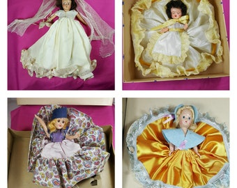 Vintage MID CENTURY DOLL Lot of 4  1940s & 1950s Small Dolls with Sleep Eyes for Crafting or Doll Parts for Doll Making or Reconditioning