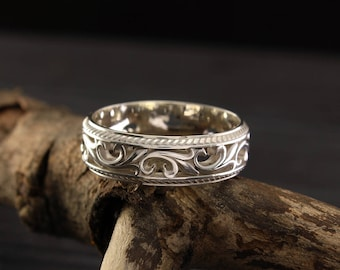 Stamped wedding bands etsy