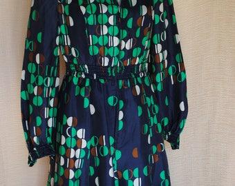 Navy blue dress 1970