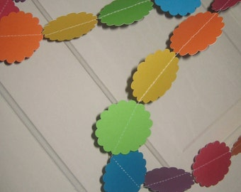 rainbow paper garland, rainbow paper, paper garland, party garland, decorations