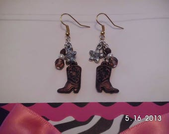 Western boot earrings