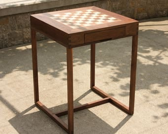 Chess table with drawer 2