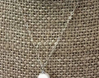 Swarovski Pear Necklace on a Sterling Silver Chain