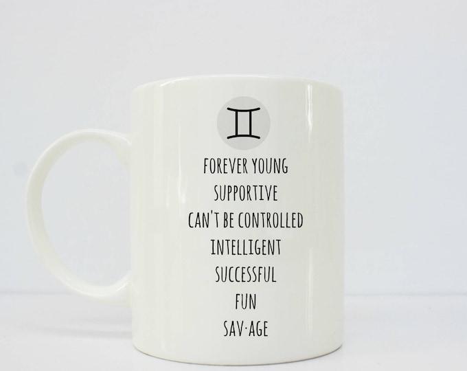 Gemini  Mug- gemini -  - horoscope - horoscope mug - astrology - astrology gift - astrology mug