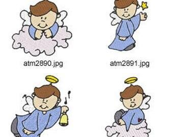 Boy-Angels ( 7 Machine Embroidery Designs from ATW ) XYZ17F