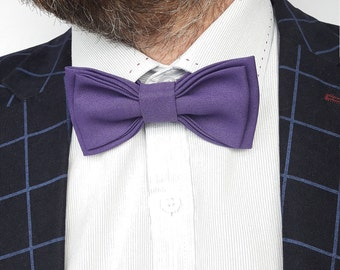 Purple bow tie Wedding bow tie Stylish bow tie Groom accessory Wedding photo props Violet bow tie Violet wedding Christmas gift