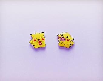 Pokémon earrings, Pokémon jewellery, Pokémon, Pikachu,Stud Earrings