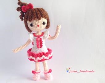 Crochet Doll Pattern / Amigurumi Doll Pattern / The Little Sweety Kiki / PDF Crochet Doll Pattern / Instant Download