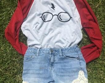 Harry Potter Raglan - Harry Potter shirt - Chosen One Shirt - Harry Potter T-shirt - Raglan -