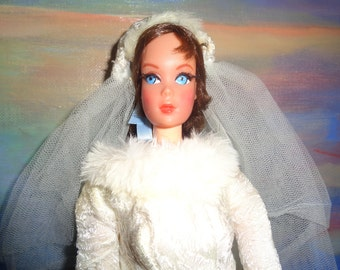 """Barbie/ """"Winter Wedding"""" 1969 /# 1880/ WITHOUT DOLL/ Near complete/ Good condition/ RARE"""
