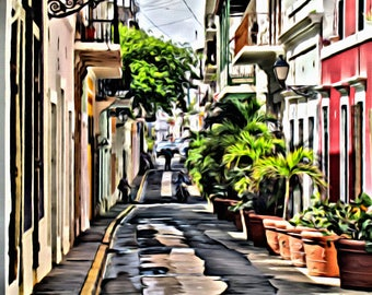Little street of San Juan Puerto Rico