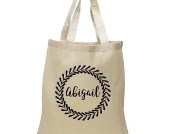 Custom name tote bag - Soft Cotton Tote Bag