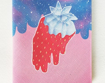 Crystal Strawberry Notebook