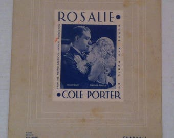 Vintage 1940's Music Song Book, Sheet Music, Cole Porter, In The Still Of the Night, Rasalie, Chappell