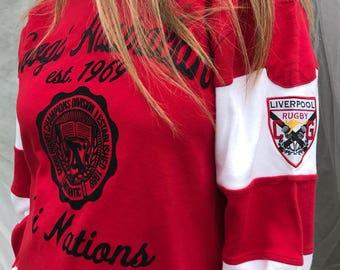 Vintage Coogi Australian ~ Liverpool Rugby Shirt (L)