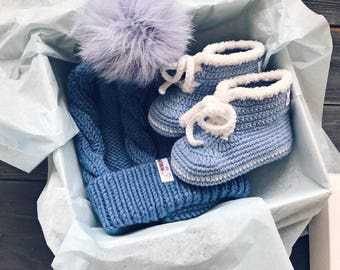 Blue Organic newborn gift Corporate baby gift Baby blessing gift Organic baby clothes Montessori baby Bring baby home Baby trends Designer