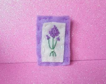 Lavender Flower Felt Pin