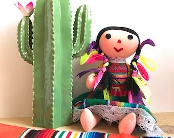 Mexican doll, Rag doll, Handmade doll, Cloth doll, Art doll, Authentic mexican doll, Boy mexican doll