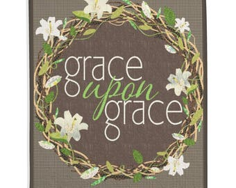 Inspirational, Religious Quilt, Home Decor - Grace Upon Grace Quilt