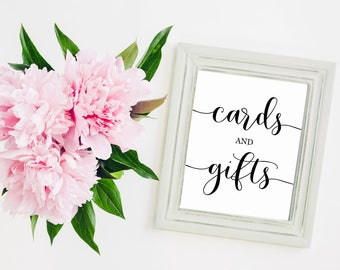 """Cards And Gifts 8""""x10"""" Printable Wedding Sign 