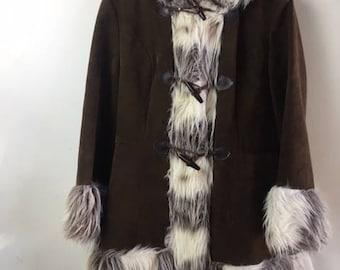 Vintage Shearling Coat | 60's | Coffee Brown |