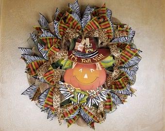 Fall Wreath. Pumpkin Wreath, Fall Decor, Autumn Wreath, Autumn Decor, Fall Yall