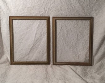"""Pair of Beautiful Antique Frames - TWO Vintage Frames - 16""""x13"""""""