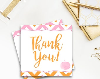 A Little Pumpkin - Favor Tags, Baby Shower, Thank You Tags, printable, DIY, pink, orange, fall, october, autumn, pumpkin, leaves, girl, 021