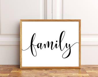 Family Print, Family Wall Decor, Family Printable, Family Wall Art, Family  Decor