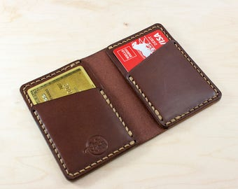 Mens Wallet, Minimalist Leather Wallet, Front Pocket Design, Personalized Groomsmen Gift,
