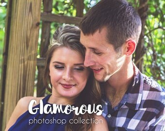 Glamorous Photo Editing, Photoshop Actions, Portrait Actions Wedding, Picture Editing, Retouch, Editable Actions, Colorful Edit
