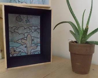 """Étagère/Bibliothèque """"Cactus and Co..."""""""