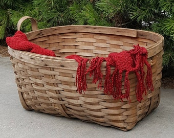 Large Rustic Wicker Basket Laundry