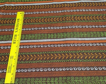 Brown Striped Cotton Fabric from Timeless Treasures