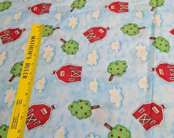 Farm House Barn Toss Cotton Fabric