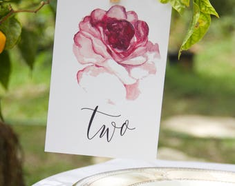 Rose Table Card