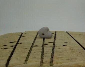"Naturally Holed Beach Stone 1""/2.7 cm Hag Stone - Pebble with natural hole - Decorative Beach Find - Odin Stone Talisman #93"