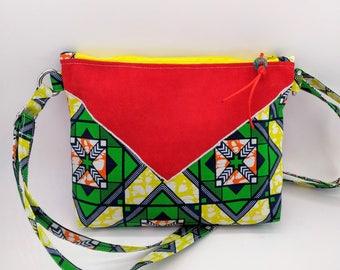 handbag red shoulder strap and wax