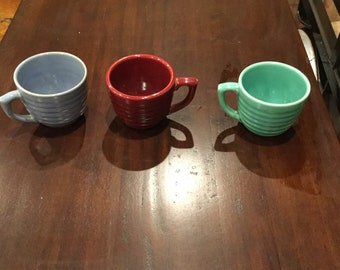 Vintage Bauer Ringware Coffee Cups