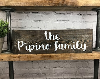 Personalized Family Sign, Last Name Sign, Reclaimed Wood Decor, Rustic Home Decor, Wall Hanging, Reclaimed Sign, Family Name Decor, Handmade