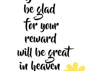 Beatitudes Wall Art 8 x 10 printable poster, downloadable, art decor