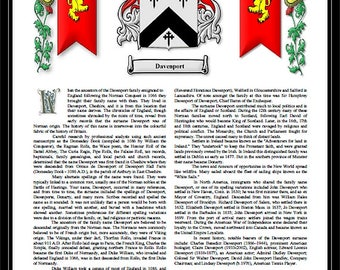 Premium Coat of Arms Family Crest Seal Surname History Geneology Origin Last Name Meaning History and Heraldry Root of Name Design Armorial
