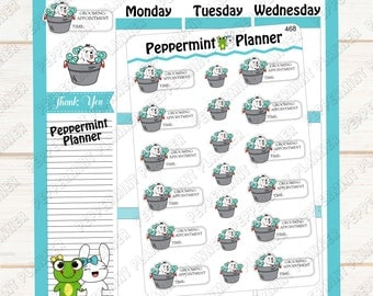Grooming Appointment --- Planner Stickers --- 468